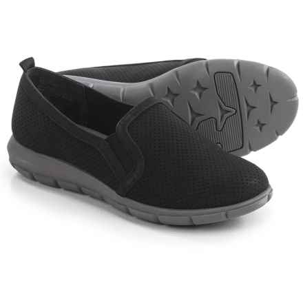 Cliffs by White Mountain Florrie Shoes - Nubuck, Slip-Ons (For Women) in Black - Closeouts