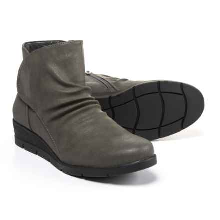Cliffs by White Mountain Terry Wedge Boots - Vegan Leather (For Women) in Grey - Closeouts