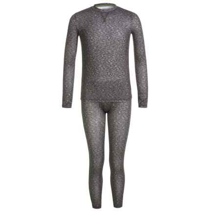 Climatesmart Comfortech Poly Top and Pants Base Layer Set - Long Sleeve (For Little and Big Boys) in Grey Port - Closeouts
