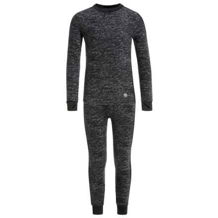 Climatesmart Fleece Base Layer Top and Pants Set - Long Sleeve (For Little and Big Boys) in Grey Heather - Closeouts