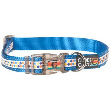 Cloe & Cluzo Adjustable Dog Collar in Orange