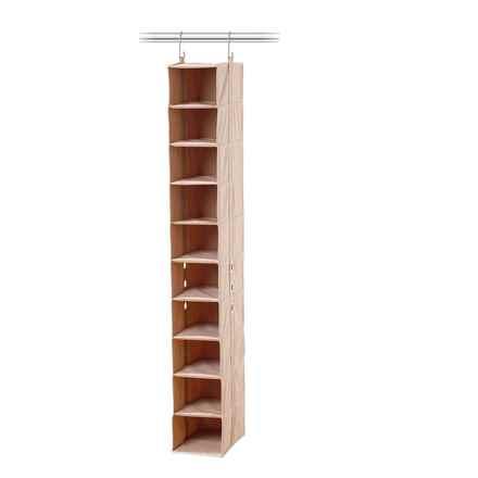 closetMAX 10-Shelf Hanging Shoe Organizer in Sand Pebble Taupe - Overstock