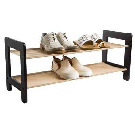 closetMAX 2-Tier Stackable Shoe Rack in Espresso - Closeouts