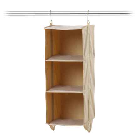 closetMAX 3-Shelf Hanging Closet Organizer in Sand Pebble Taupe - Closeouts