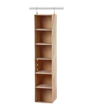 closetMAX 6-Shelf Hanging Closet Organizer in Sand Pebble Taupe - Overstock