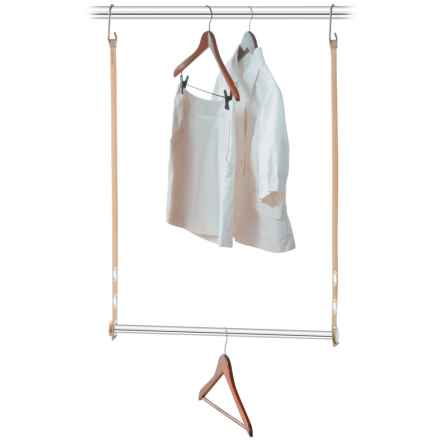 closetMAX Expandable Hanging MAXBar in Sand Pebble Taupe - Overstock