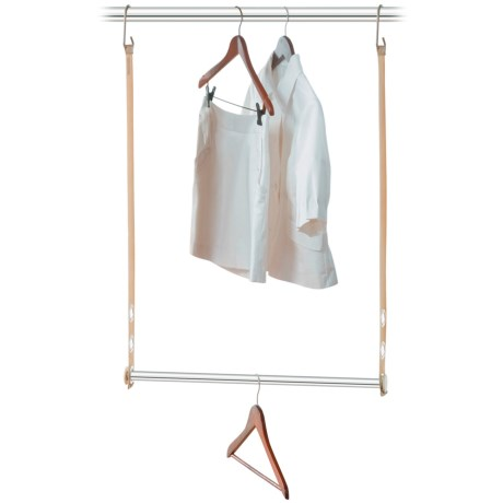 closetMAX Expandable Hanging MAXBar in Sand Pebble Taupe