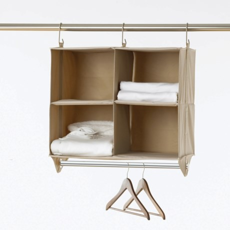 closetMAX Hanging Four-Shelf Organizer with Bar