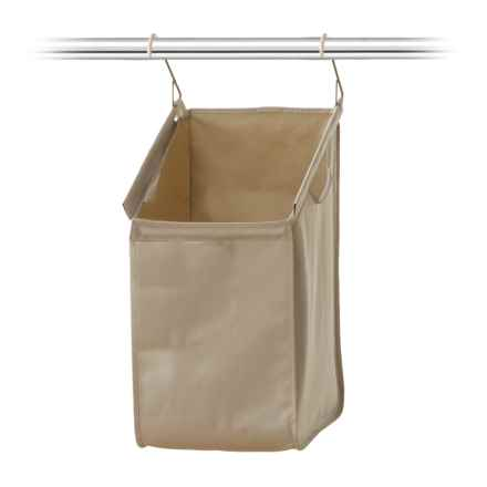closetMAX Hanging Laundry Hamper in Sand Pebble Taupe - Closeouts