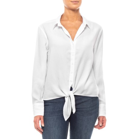 e9eaca2f Cloth and Stone White Tie-Front Button-Down Shirt (For Women) - Save 67%