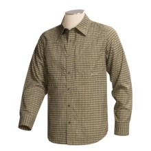 Cloudveil Ripple Shirt - Long Sleeve  (For Men) in Tan / Brown - Closeouts