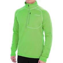 Cloudveil Run Don't Walk Pullover Jacket - Fleece Lining, Zip Neck (For Men) in Green Flash - Closeouts