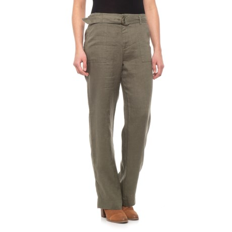 Image of Clover Solid Linen Pants (For Women)