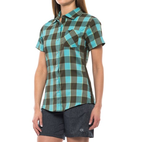 Club Ride Bandara Cycling Shirt - Short Sleeve (For Women) in Maui Plaid