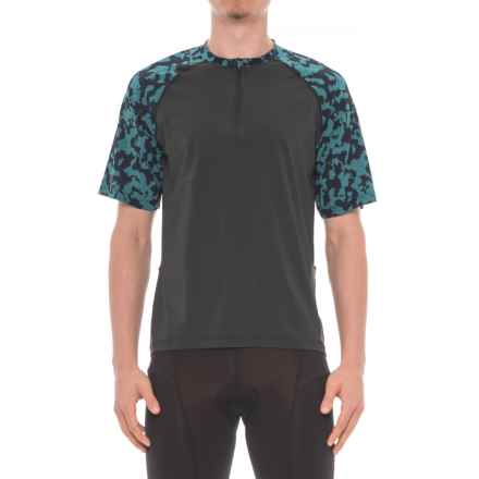 Club Ride Camotion Cycling Jersey - UPF 20+, Zip Neck, Short Sleeve (For Men) in Raven - Closeouts