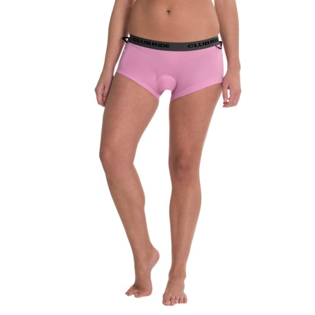 Club Ride Damsel Cham Liner Cycling Shorts (For Women) in Violet