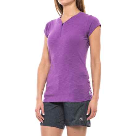 Club Ride Deer Abby Cycling Jersey - UPF 20+, Zip Neck, Short Sleeve (For Women) in Dewberry - Closeouts