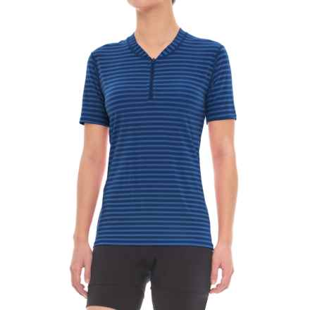Club Ride Glory Cycling Jersey - UPF 20+, Zip Neck, Short Sleeve (For Women) in Cobalt Stripe - Closeouts