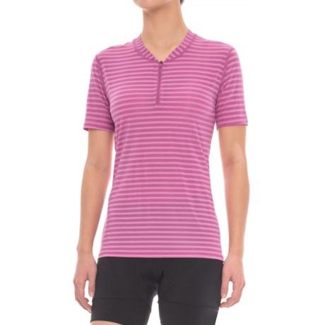 Club Ride Glory Cycling Jersey - UPF 20+, Zip Neck, Short Sleeve (For Women) in Nirvana Stripe
