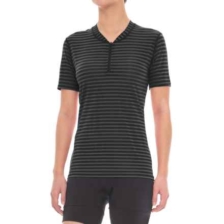Club Ride Glory Cycling Jersey - UPF 20+, Zip Neck, Short Sleeve (For Women) in Raven Stripe - Closeouts