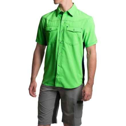 Club Ride Go West Cycling Shirt - UPF 30+, Short Sleeve (For Men) in Kermit - Closeouts