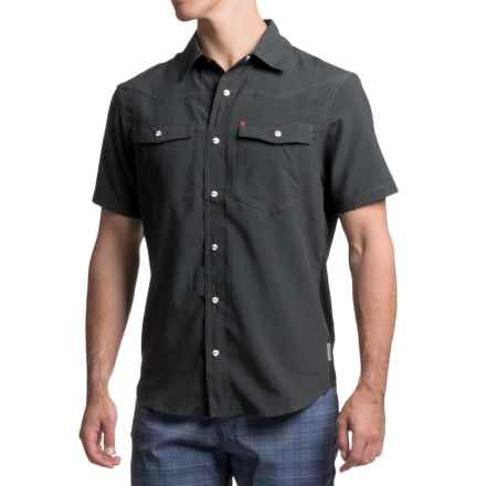 Club Ride Go West Cycling Shirt - UPF 30+, Short Sleeve (For Men) in Raven - Closeouts