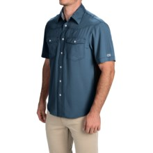 Club Ride Go West Cycling Shirt - UPF 30+, Short Sleeve (For Men) in Stoic Blue - Closeouts