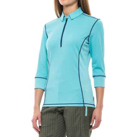 Club Ride Hermosa Cycling Jersey - UPF 30+, 3/4 Sleeve (For Women) in Maui Blue - Closeouts