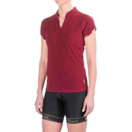Club Ride Motion Cycling Jersey - UPF 20+, Short Sleeve (For Women) in Red - Closeouts