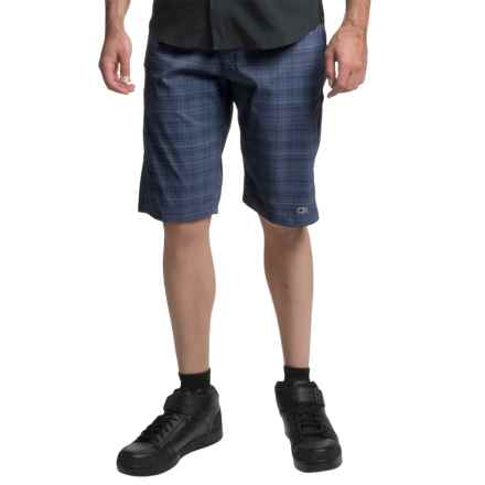 Club Ride Mountain Surf Bike Shorts - UPF 30+ (For Men) in Cobalt Plaid - Closeouts