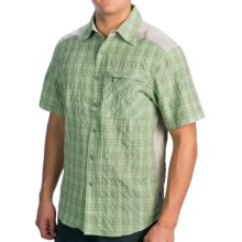 Club Ride New West Cycling Shirt - UPF 30+, Snap Front, Short Sleeve (For Men) in Mantis Plaid - Closeouts
