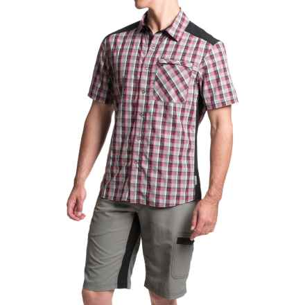 Club Ride New West Cycling Shirt - UPF 30+, Snap Front, Short Sleeve (For Men) in Molten Plaid - Closeouts