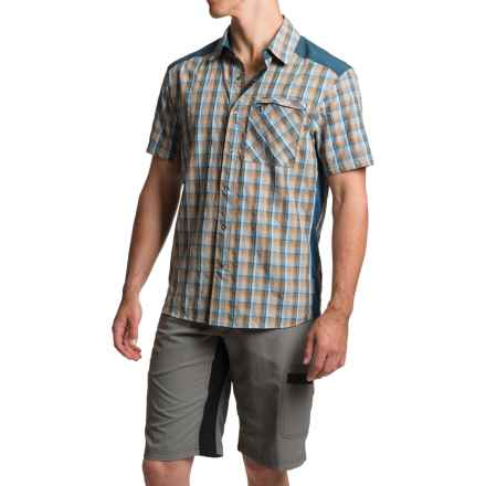 Club Ride New West Cycling Shirt - UPF 30+, Snap Front, Short Sleeve (For Men) in Royal Plaid - Closeouts