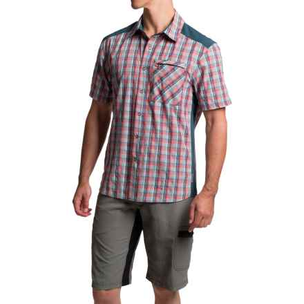 Club Ride New West Cycling Shirt - UPF 30+, Snap Front, Short Sleeve (For Men) in Spicy Plaid - Closeouts