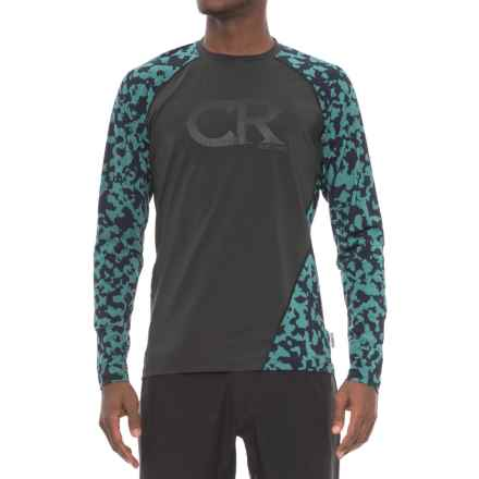 Club Ride Phantasm Cycling Jersey - UPF 20+, Long Sleeve (For Men) in Raven - Closeouts