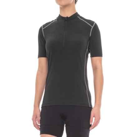 Club Ride Promenade Cycling Jersey - UPF 20+, Zip Neck, Short Sleeve (For Women) in Raven - Closeouts