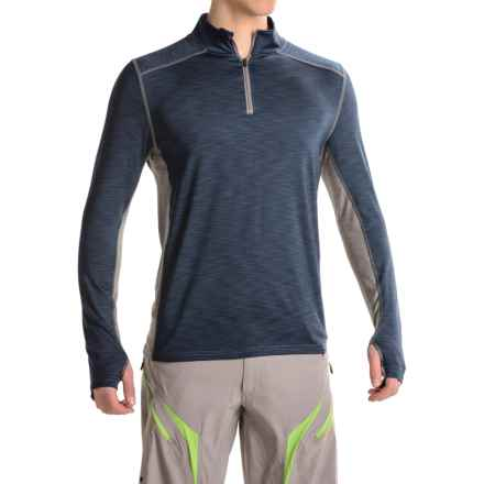 Club Ride Razz Cycling Shirt - UPF 20+, Zip Neck, Long Sleeve (For Men) in Indigo - Closeouts