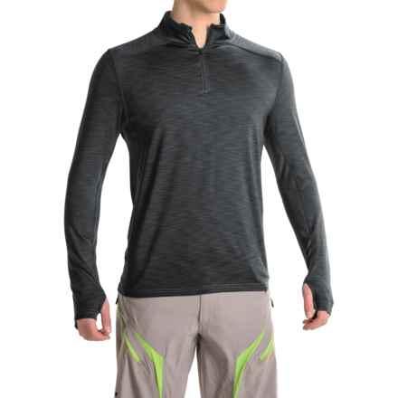 Club Ride Razz Cycling Shirt - UPF 20+, Zip Neck, Long Sleeve (For Men) in Raven - Closeouts