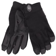 Club Ride Recon Bike Gloves - Full Finger (For Men) in Raven - Closeouts