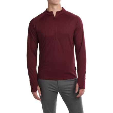 Club Ride Rialto Knit Cycling Jersey - Zip Neck, Long Sleeve (For Men) in Biking Red - Closeouts