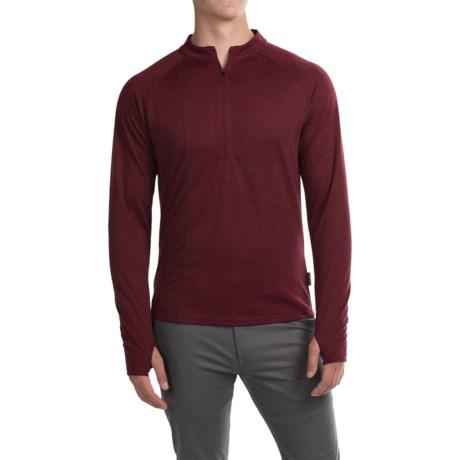 Club Ride Rialto Knit Cycling Jersey - Zip Neck, Long Sleeve (For Men) in Biking Red
