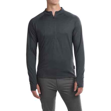 Club Ride Rialto Knit Cycling Jersey - Zip Neck, Long Sleeve (For Men) in Dark Charcoal - Closeouts