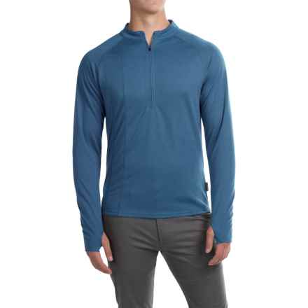 Club Ride Rialto Knit Cycling Jersey - Zip Neck, Long Sleeve (For Men) in Sapphire - Closeouts