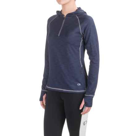 Club Ride Sprint Hoodie - UPF 20+, Zip Neck (For Women) in Indigo - Closeouts
