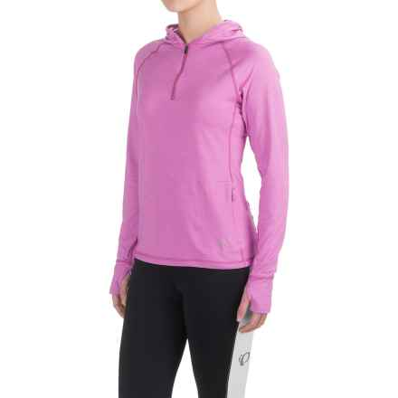 Club Ride Sprint Hoodie - UPF 20+, Zip Neck (For Women) in Nirvana Purple - Closeouts