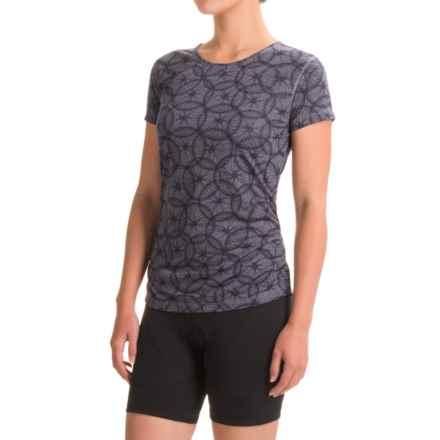 Club Ride Wheel Cute Cycling Jersey - UPF 20+, Short Sleeve (For Women) in Steel - Closeouts