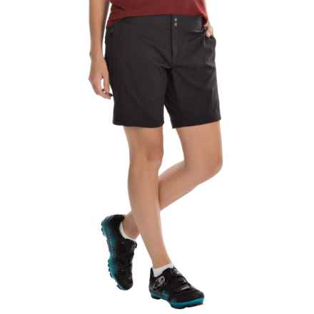 Club Ride Zest Cycling Shorts - Stretch Nylon (For Women) in Raven - Closeouts