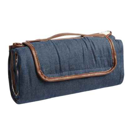 "Co-Pilot Denim Travel Pet Blanket - 59x39"" in Blue - Closeouts"