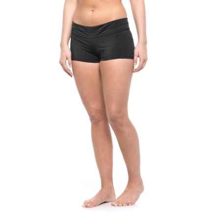 Coastal Zone by Jantzen Boy-Short Swimsuit Bottoms (For Women) in Black - Closeouts