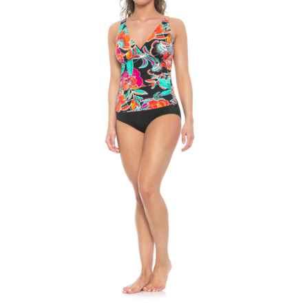 Coastal Zone by Jantzen OTS One-Piece Swimsuit - Padded Cups (For Women) in Raspberry Wine - Closeouts